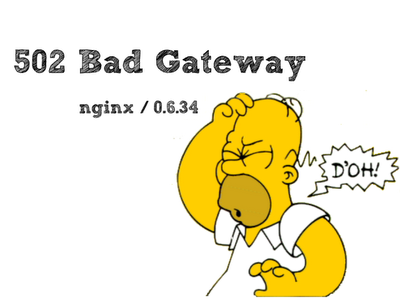 Homer simson doh 502 bad gateway