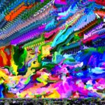 Glitch art colorful