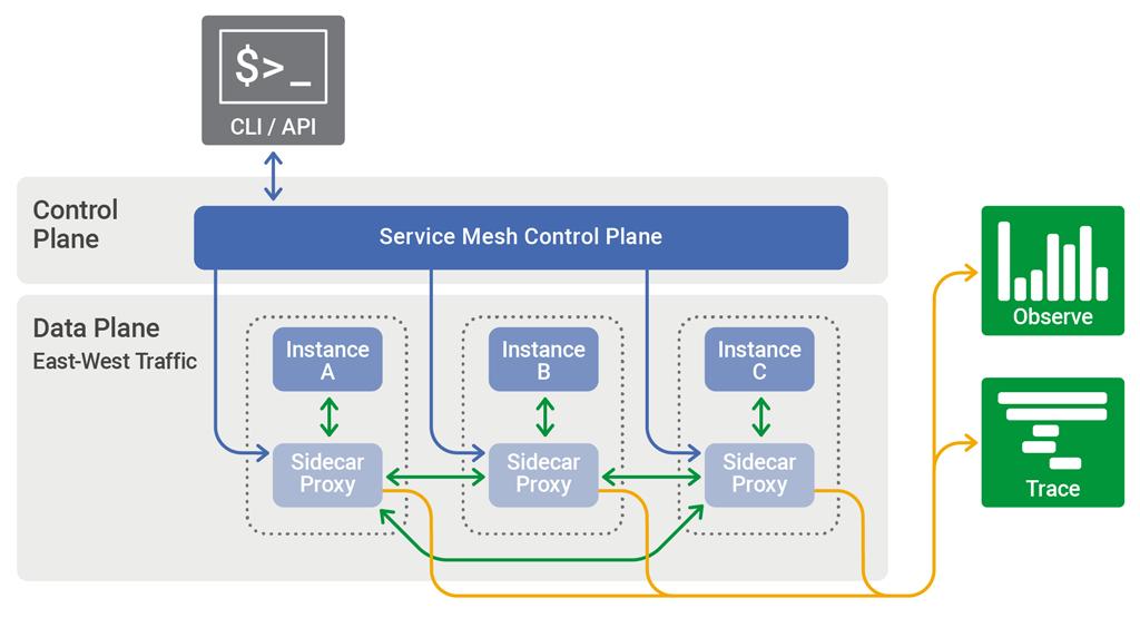 Service mesh topology NGINX